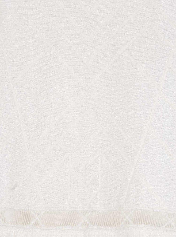 Krémové šaty s vyšívanými detailmi na prednej časti Roxy Prism Pattern