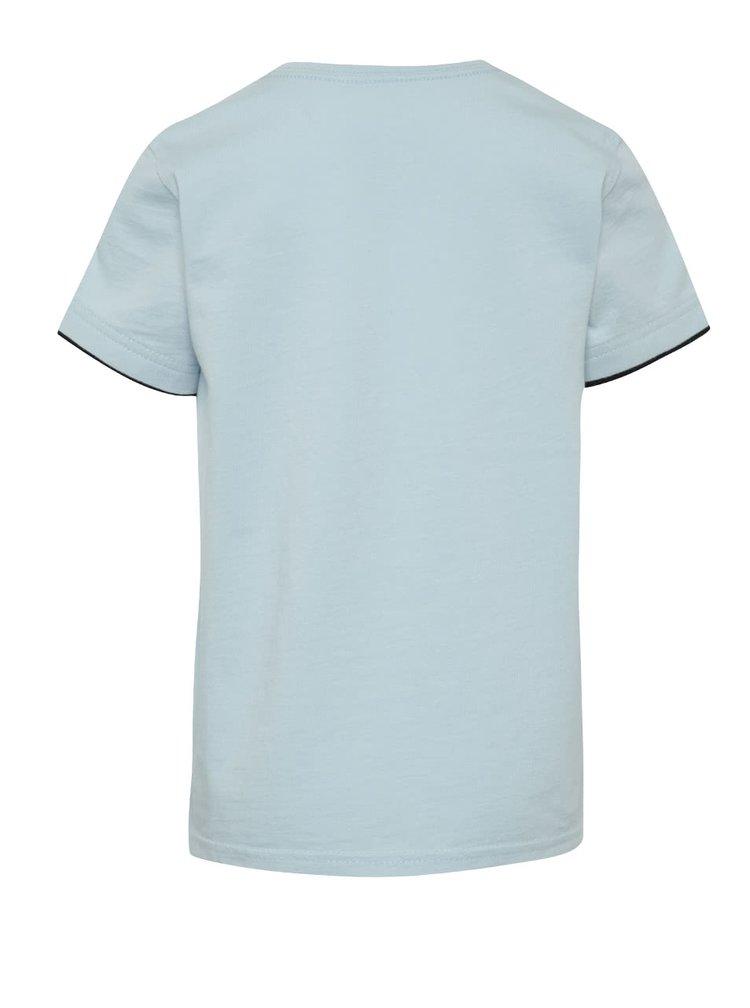 Světle modré klučičí triko s potiskem Quiksilver