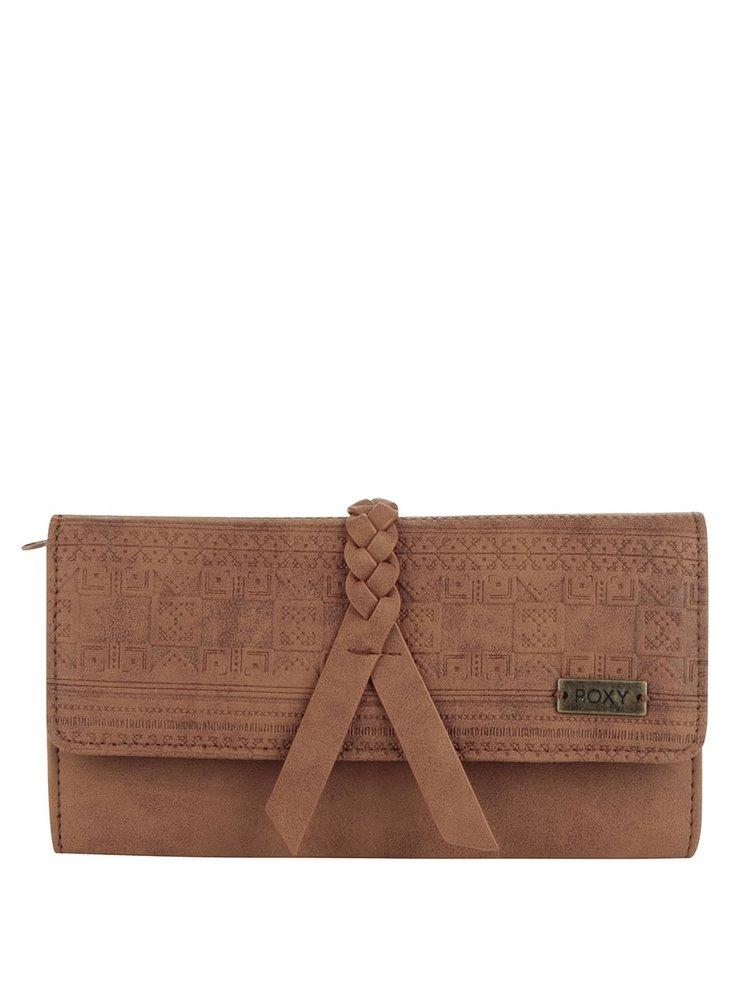 Hnědá peněženka s jemným vzorem Roxy Just Another