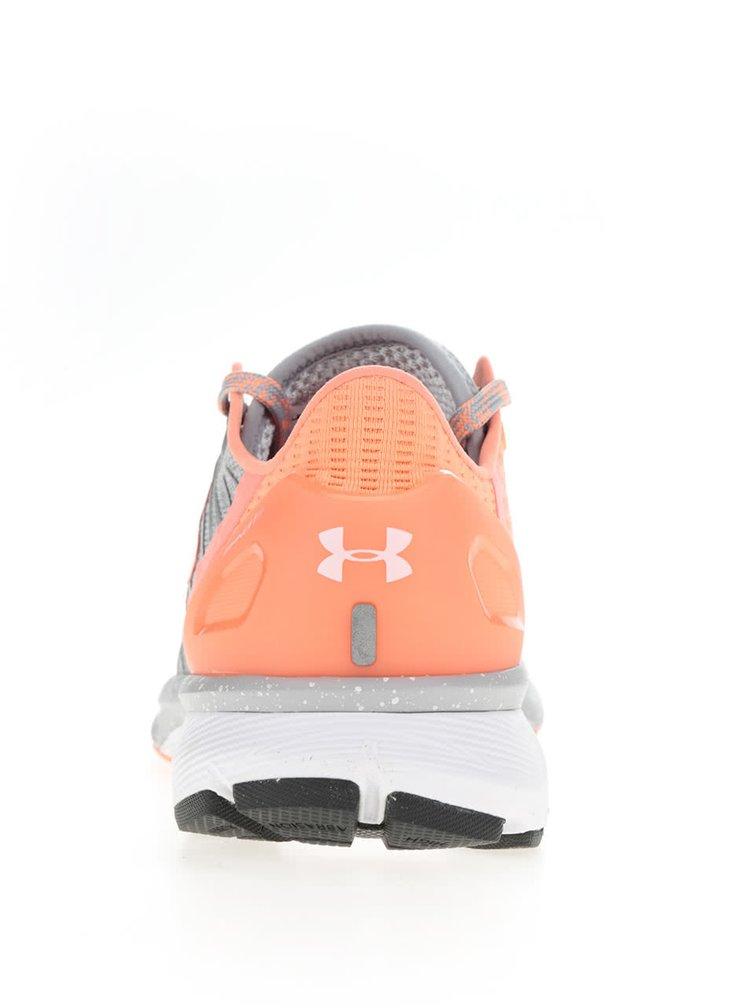 Pantofi sport portocaliu & gri Under Armour UA W Charged Bandit 2 pentru femei