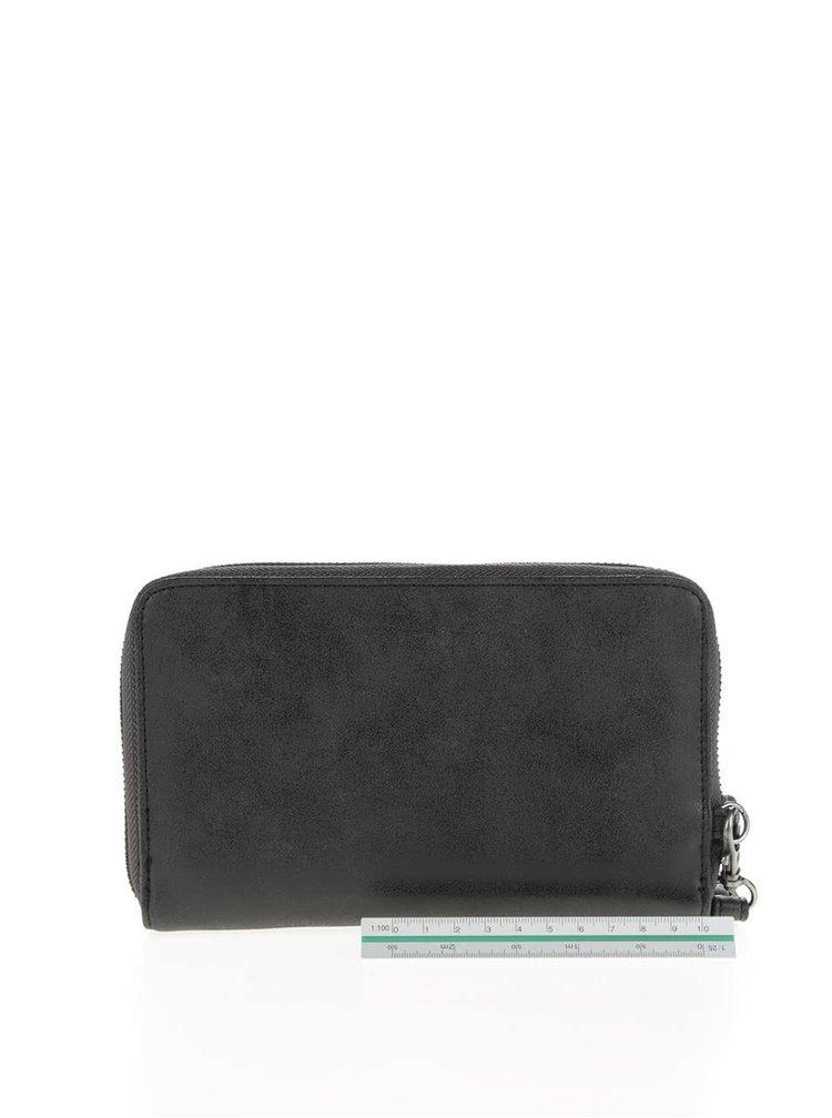 Černá peněženka na zip s jemným vzorem Roxy Won
