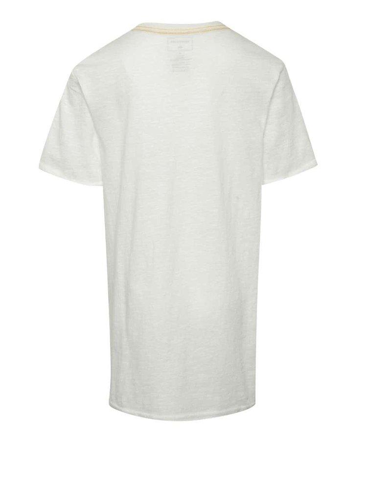 Krémové klučičí triko s krátkým rukávem Quiksilver