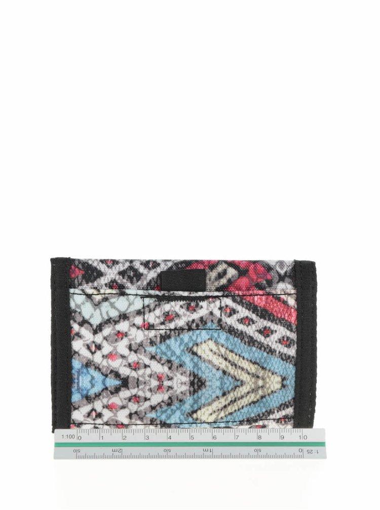 Krémovo-černá peněženka se vzorem Roxy Small Beach