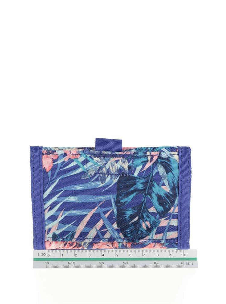 Modrá peněženka s tropickým vzorem Roxy Small Beach