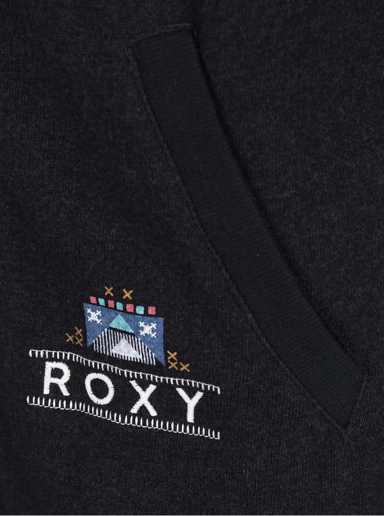 Hanorac negru Roxy Hawser cu print