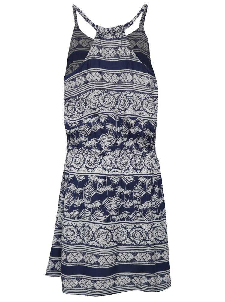 Krémovo-modré holčičí vzorované šaty Roxy Lovely