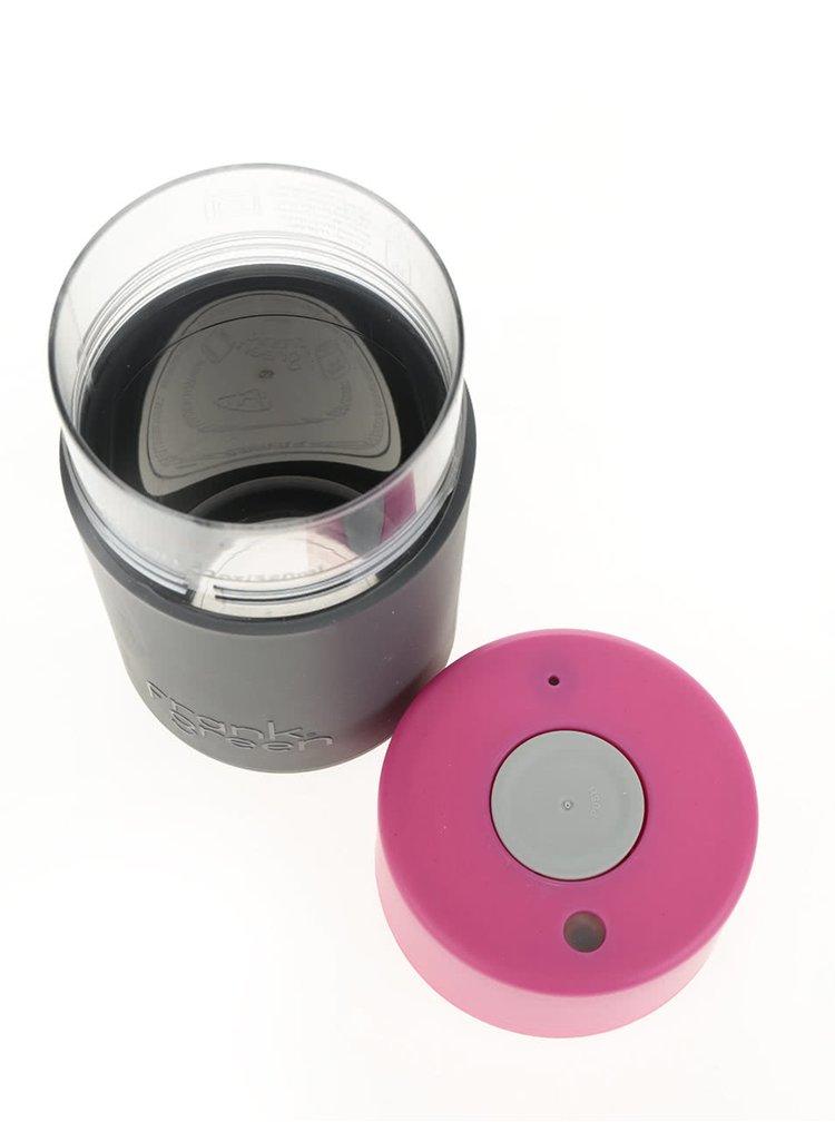 Termos gri închis&roz Frank Green SmartCup 340 ml