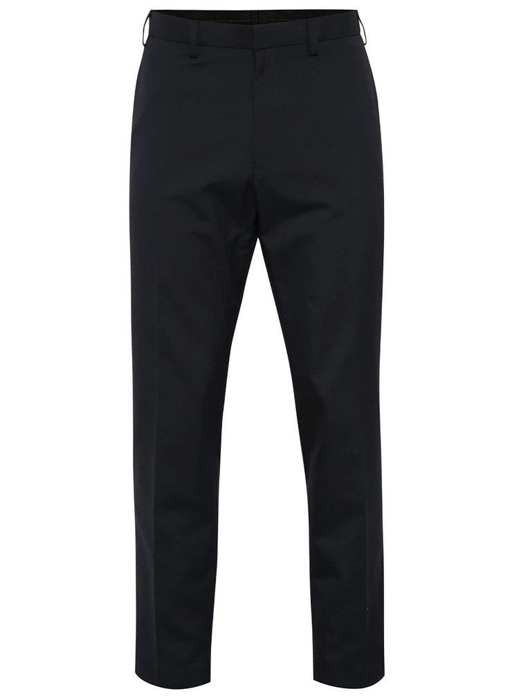 Tmavě modré formální slim kalhoty Burton Menswear London