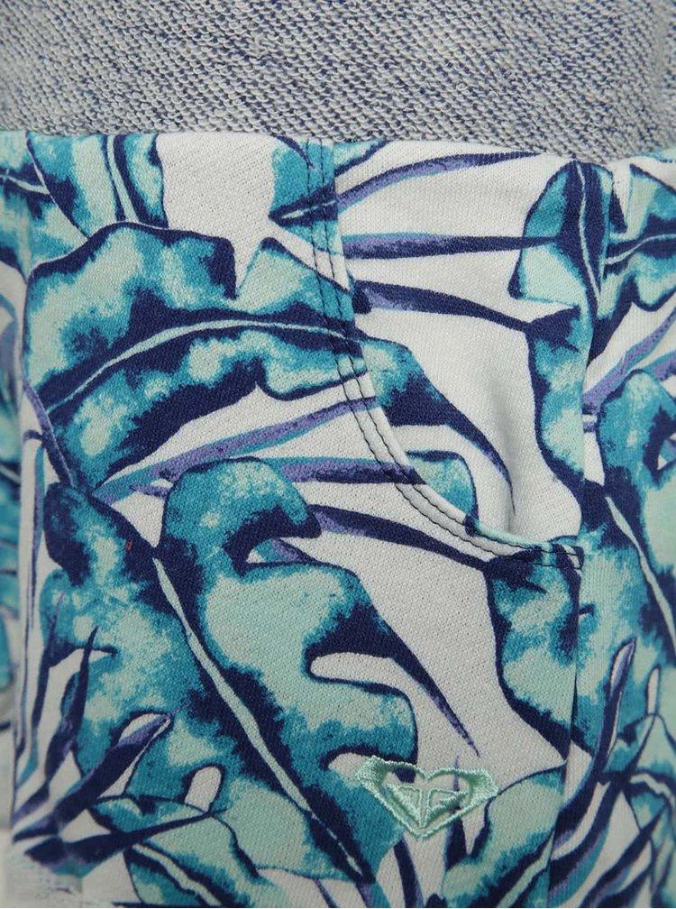 Krémovo-modré vzorované holčičí kraťasy Roxy Takapoto