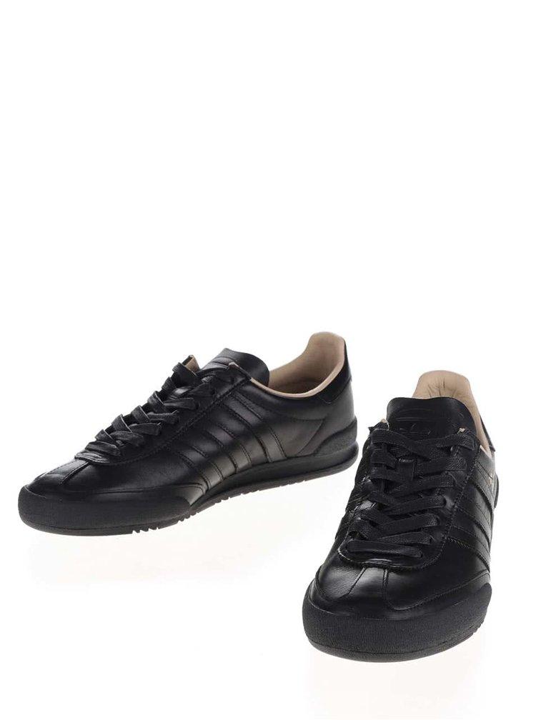 Černé pánské kožené tenisky adidas Originals Jeans