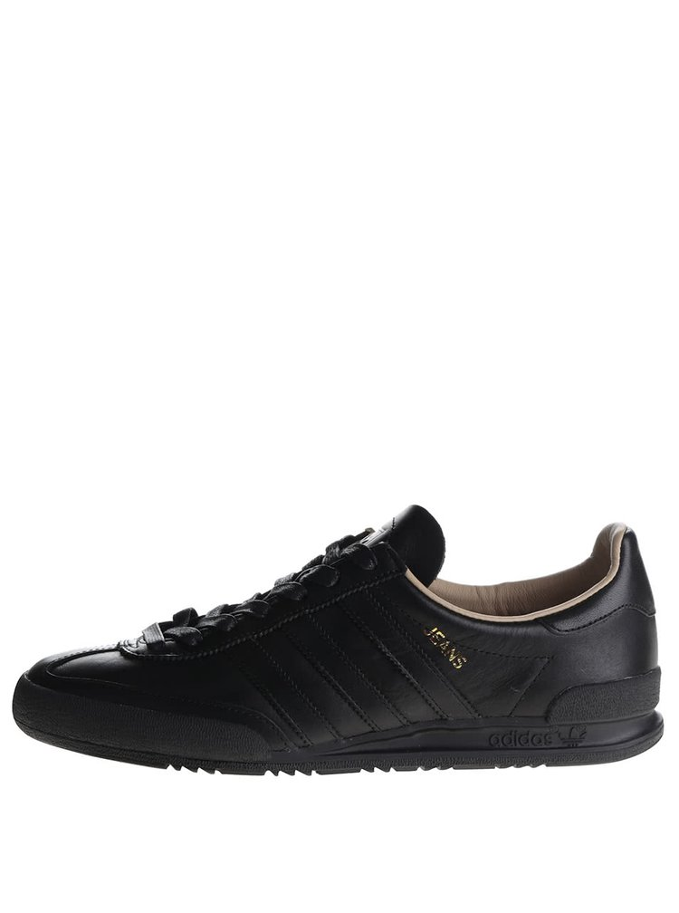 Pantofi sport negri din piele pentru barbati Adidas Originals Jeans