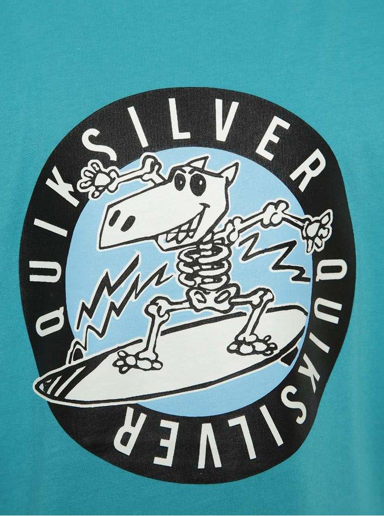 Tyrkysové klučičí triko s potiskem Quiksilver