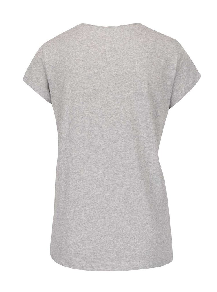 Šedé tričko s potiskem Roxy Bobby