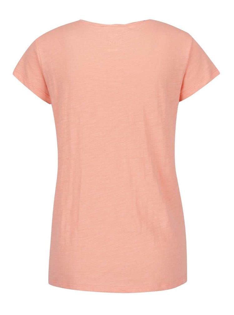 Tricou portocaliu Roxy Bobby cu print