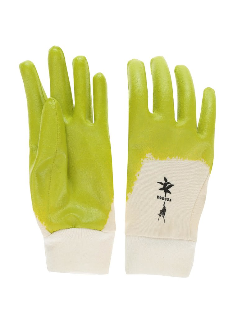 """""""Dobré"""" krémovo-zelené zahradnické rukavice pro Kokozu"""