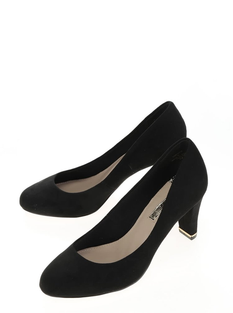 Pantofi negri Dorothy Perkins cu detalii metalice