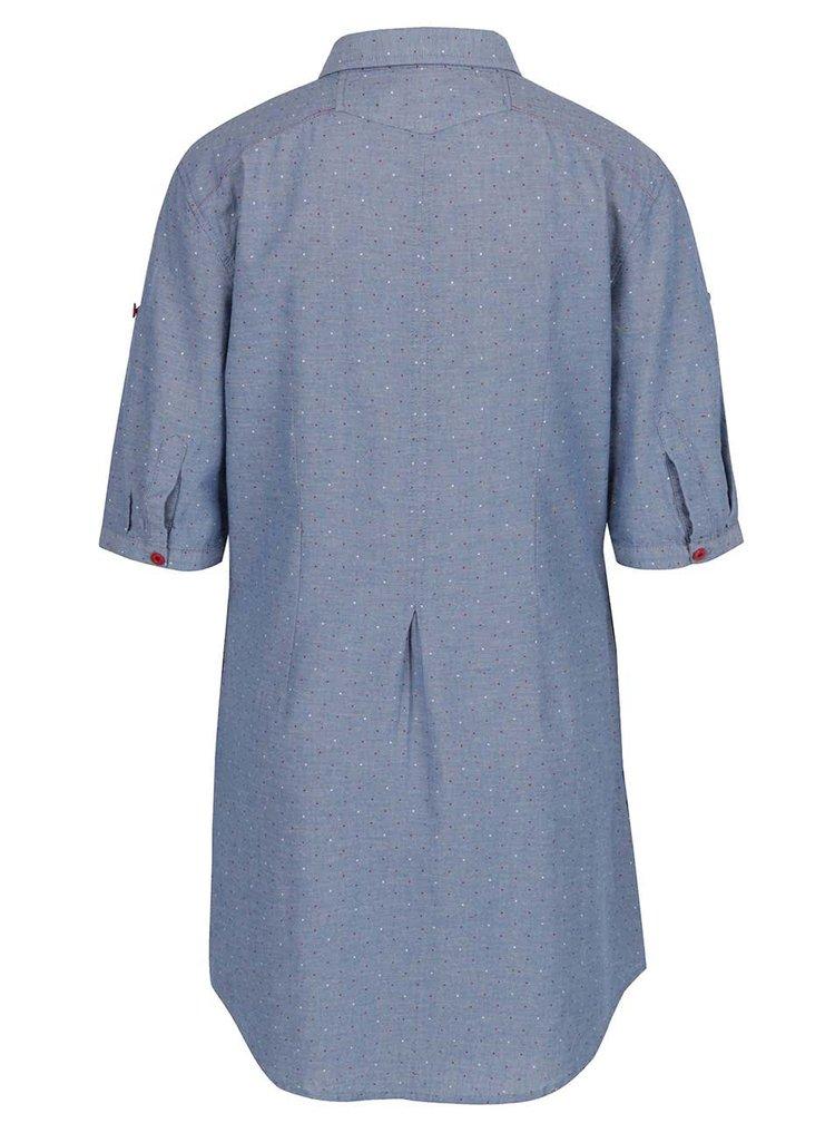 Modré puntíkované košilové šaty Horsefeathers Bess