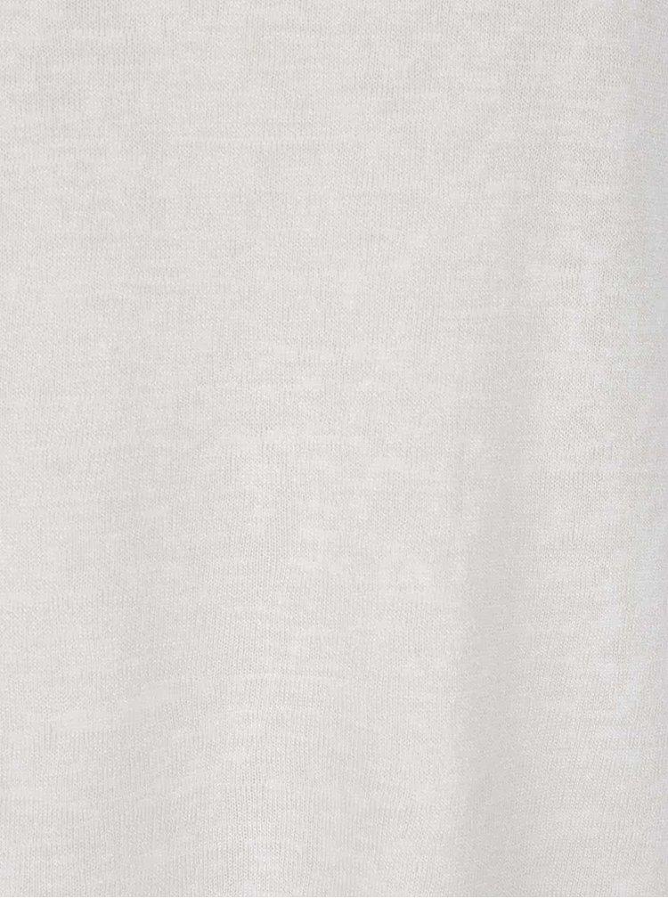 Krémové tričko s prodlouženým zadním dílem Apricot