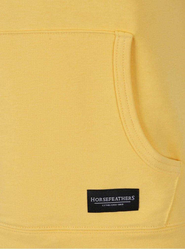 Bluza galbena Horsefeathers Angie cu buzunar