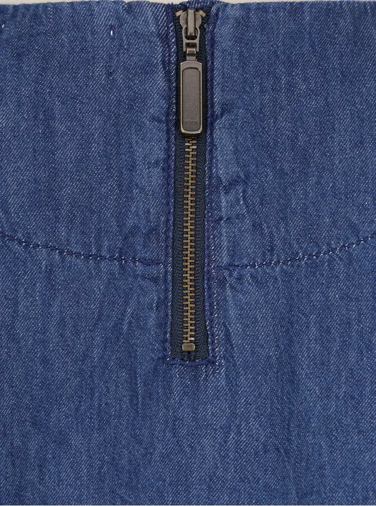 Rochie albastru inchis Apricot din denim cu buzunar