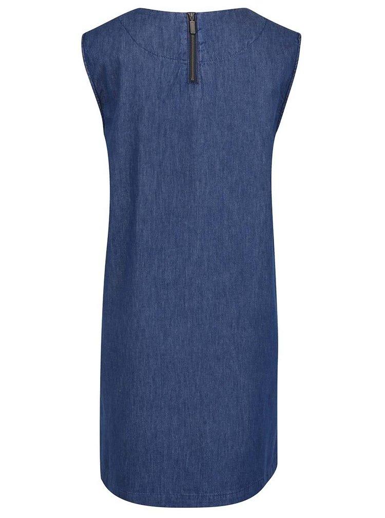 Rochie albastru închis Apricot din denim cu buzunar