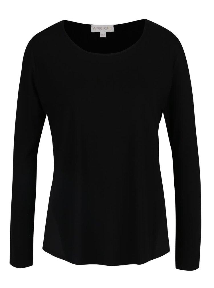 Černé tričko s dlouhým rukávem Apricot