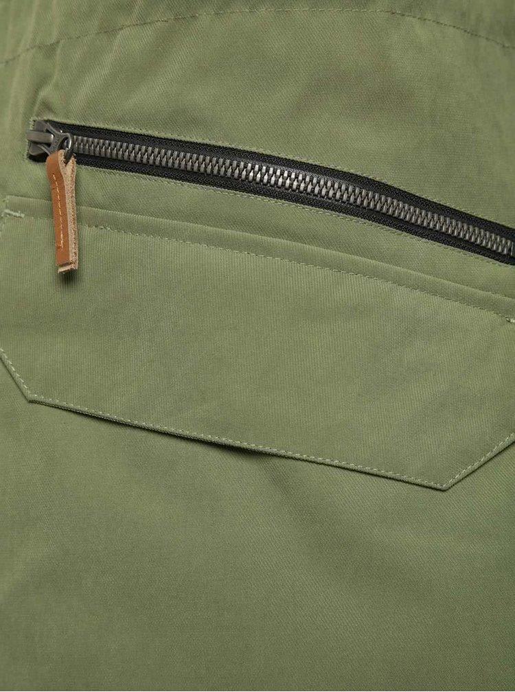 Jachetă verde Horsefeathers Sanchez cu glugă