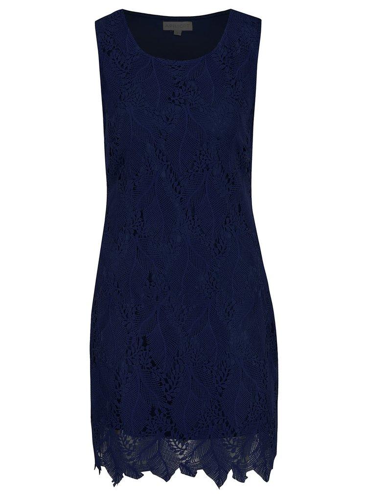 Tmavě modré krajkové šaty Apricot