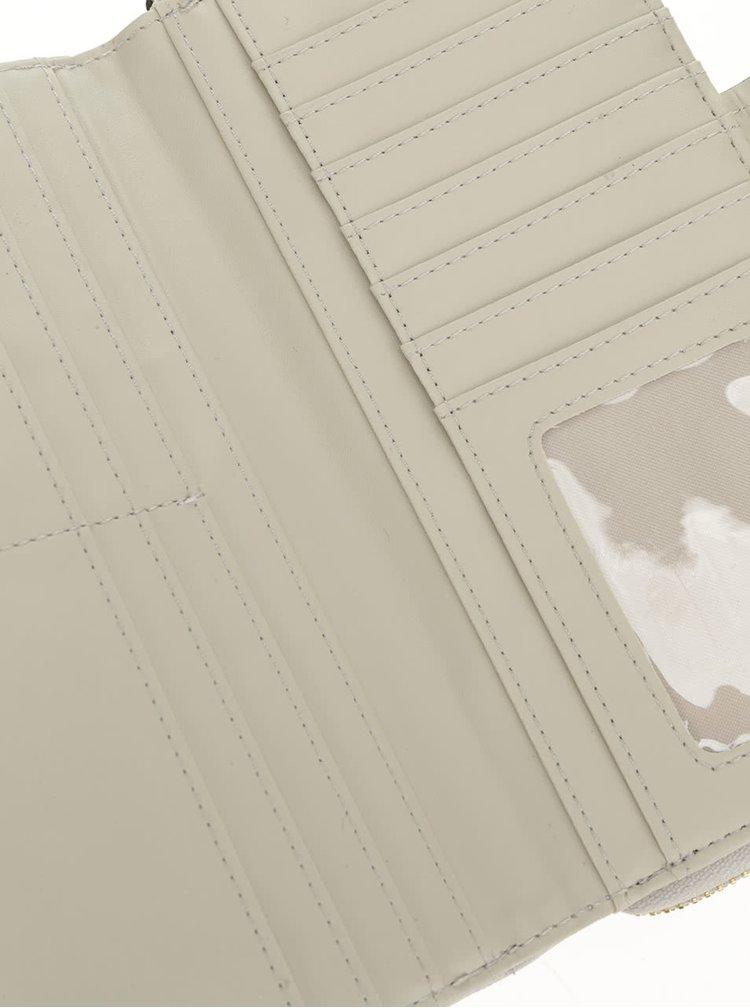 Šedá peněženka s detaily ve zlaté barvě Nalí
