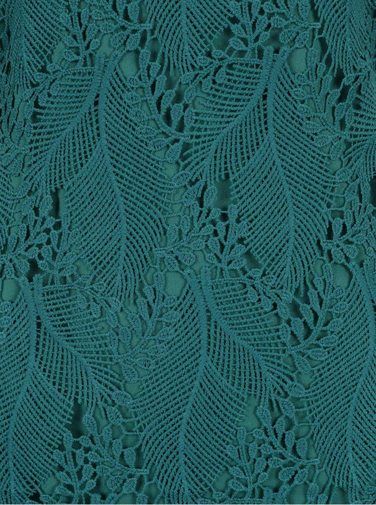 Zelené krajkové šaty Apricot