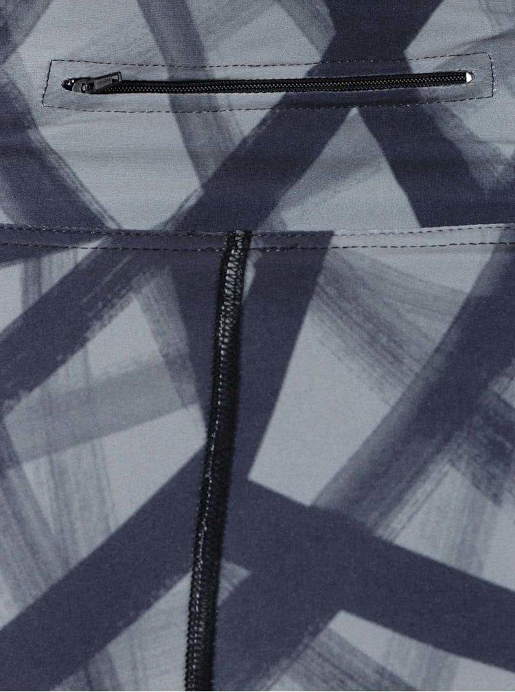 Černo-šedé vzorované sportovní legíny Horsefeathers Molly