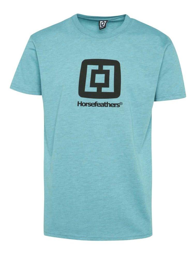 Modré pánské triko s potiskem Horsefeathers Fair