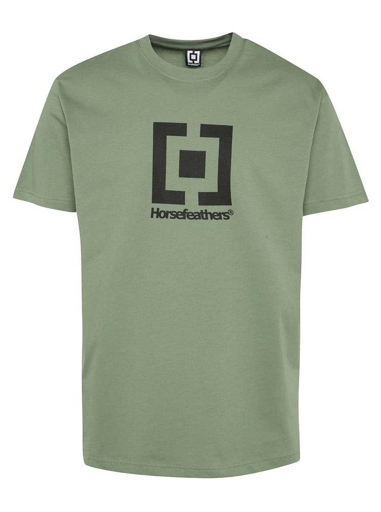 Zelené pánské triko Horsefeathers New Base