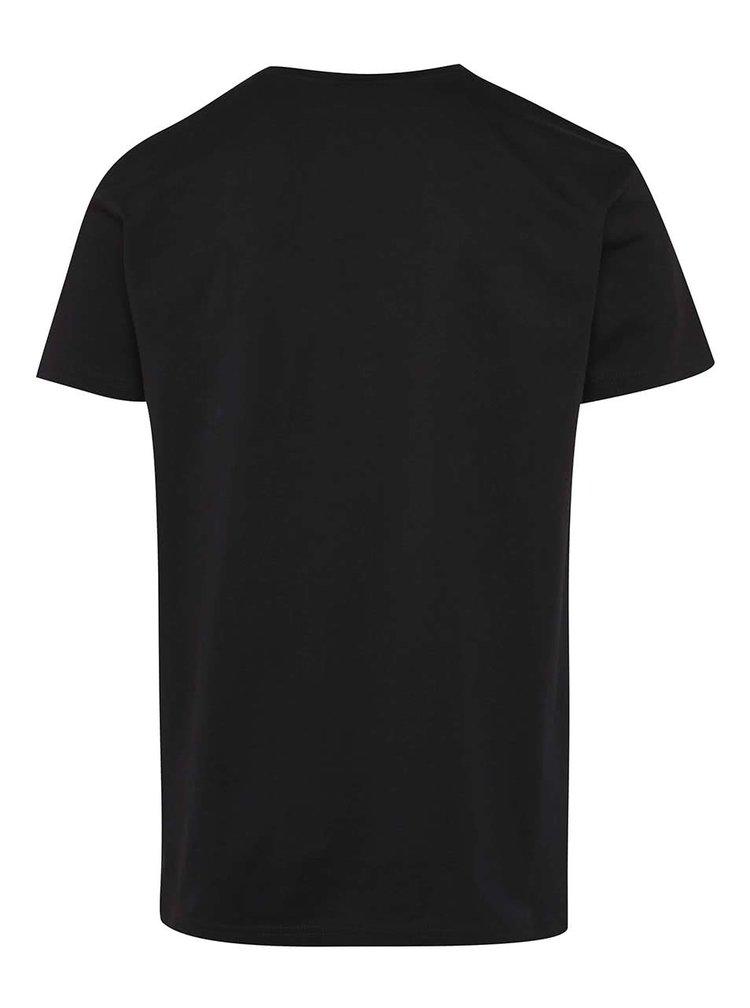 Černé pánské tričko s potiskem Horsefeathers Save Water
