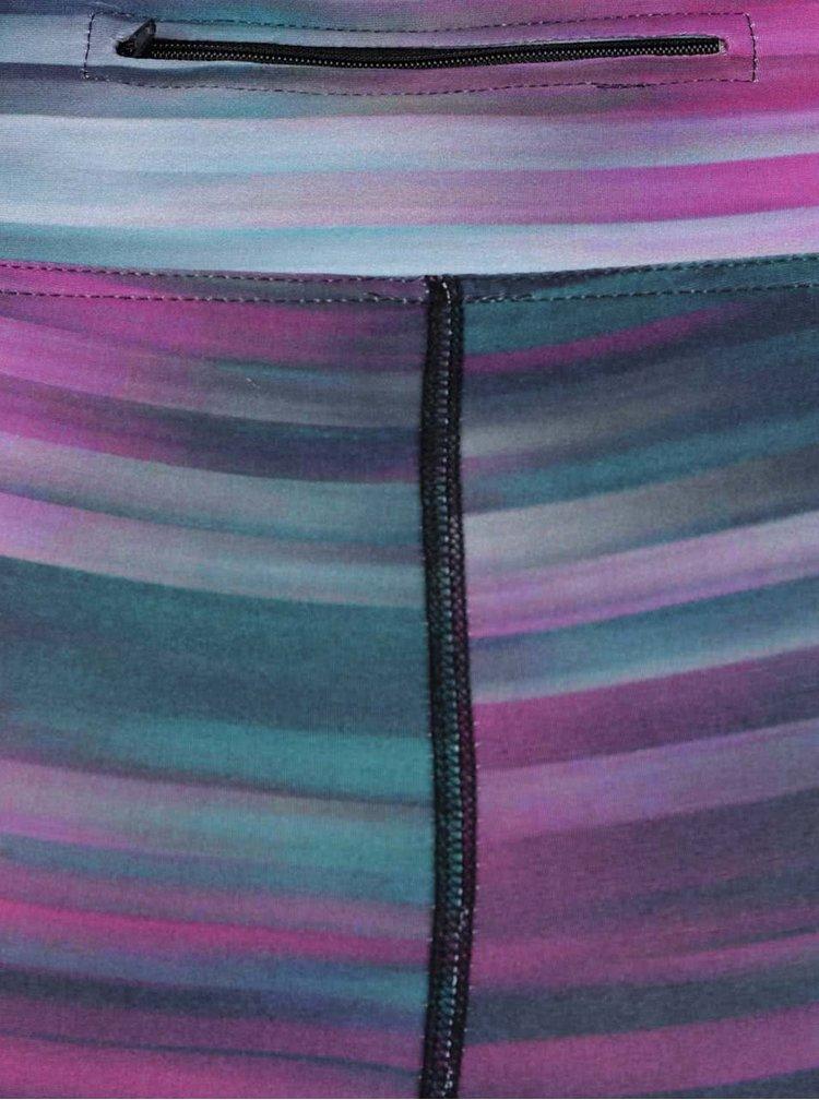 Šedo-fialové pruhované sportovní legíny Horsefeathers Molly