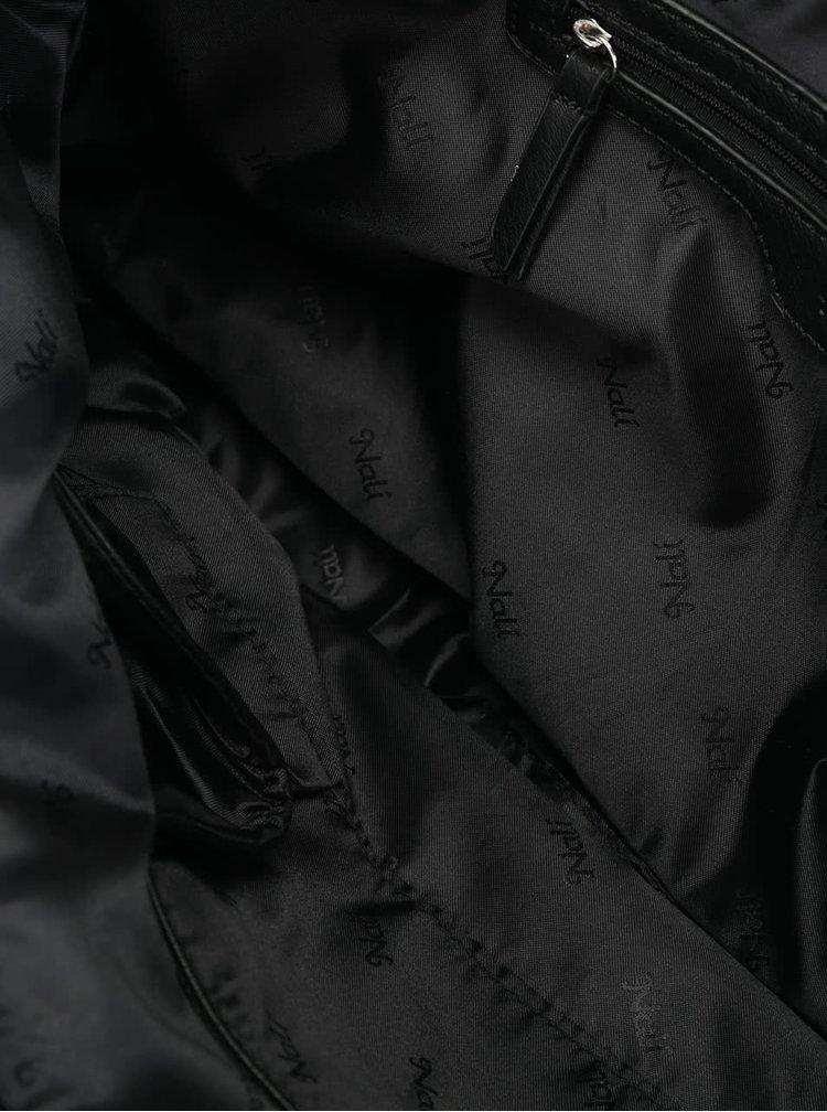 Geantă shopper neagră Nalí cu franjuri