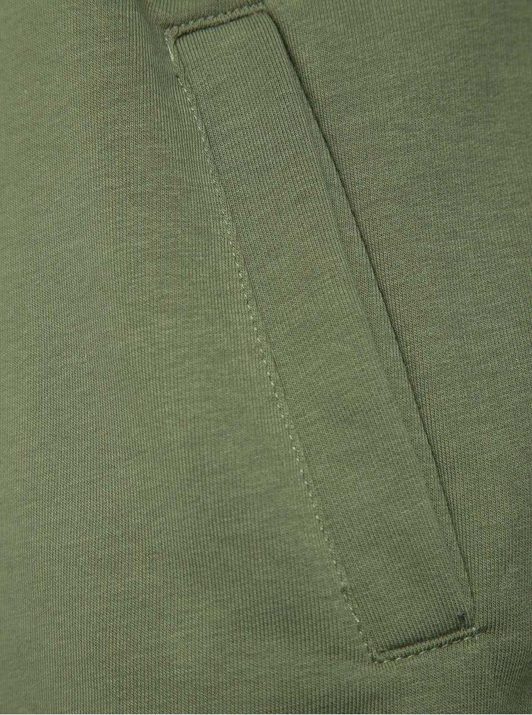 Černo-zelená pánská mikina s kapucí Horsefeathers Volker