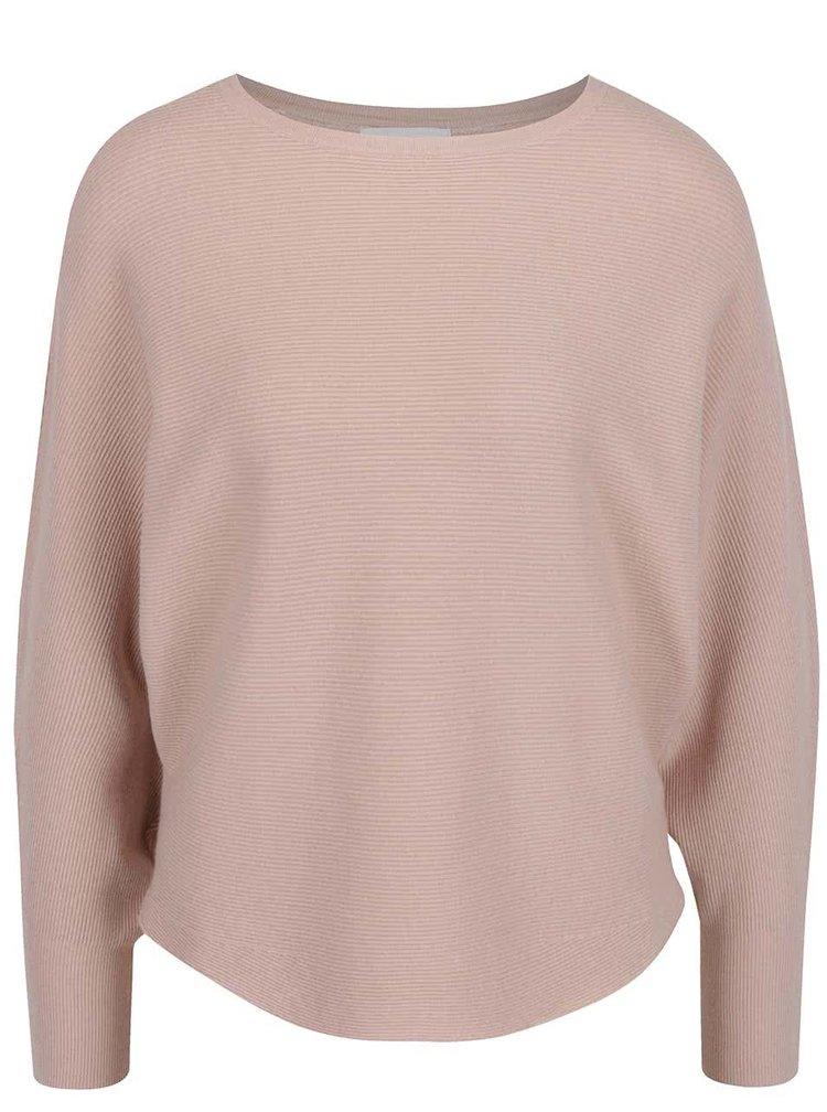 Bluză roz deschis Apricot cu detaliu din dantelă