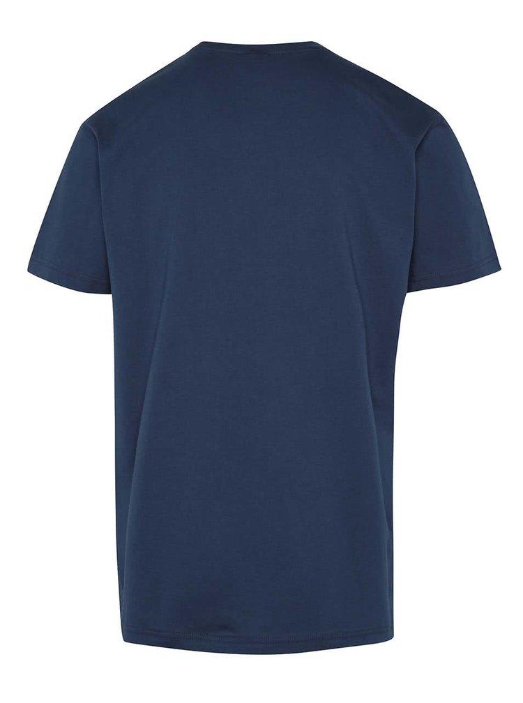 Tmavě modré pánské triko s logem Horsefeathers New Base
