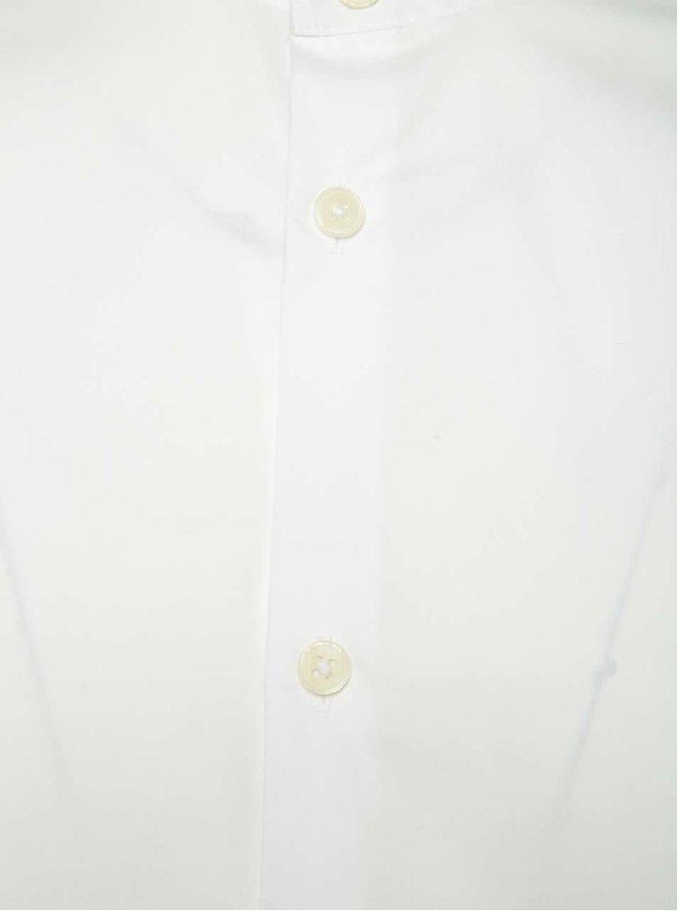 Cămașă albă Selected Homme AB One slim fit cu guler tunică