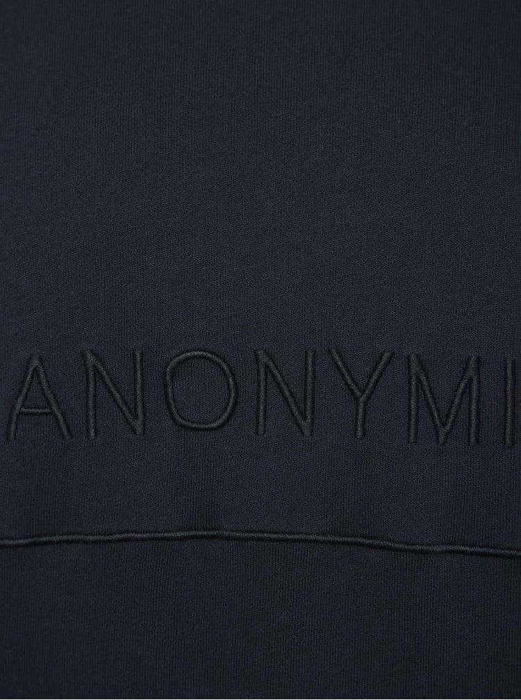 Bluză albastru închis Selected Homme Saly cu text în relief
