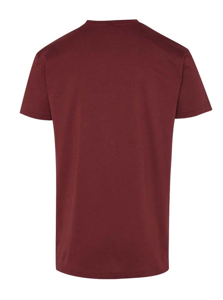 Vínové pánské triko s potiskem Horsefeathers University