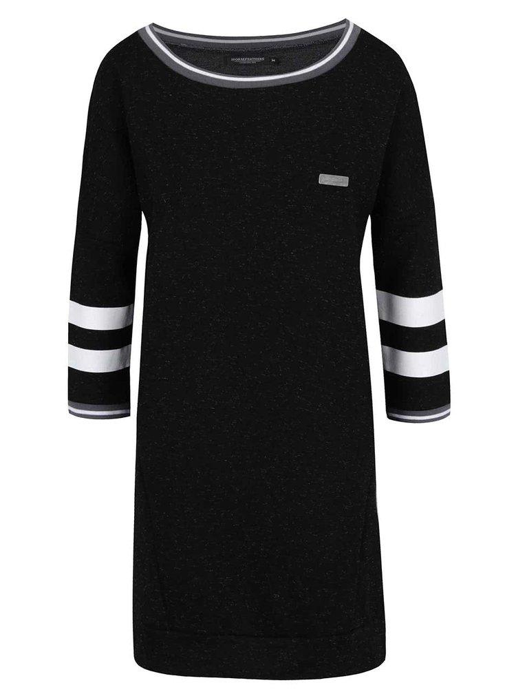 Černé mikinové šaty Horsefeathers Doris