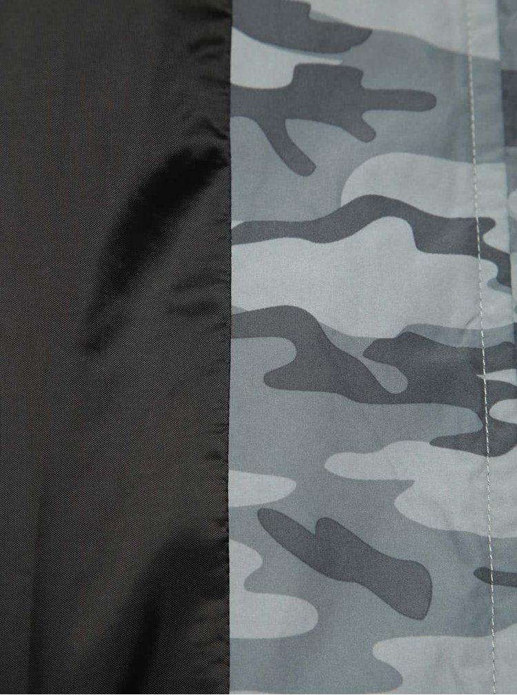 Šedá šusťáková bunda s maskáčovým vzorem ONLY & SONS Normex