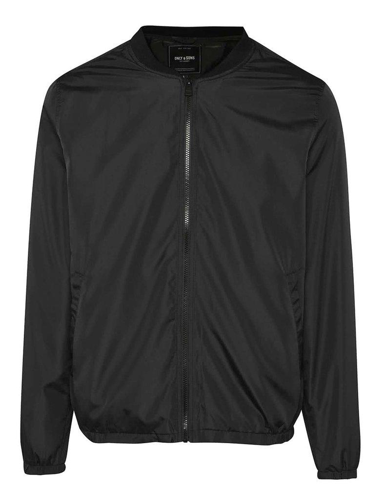 Jachetă bomber neagră ONLY & SONS Norm