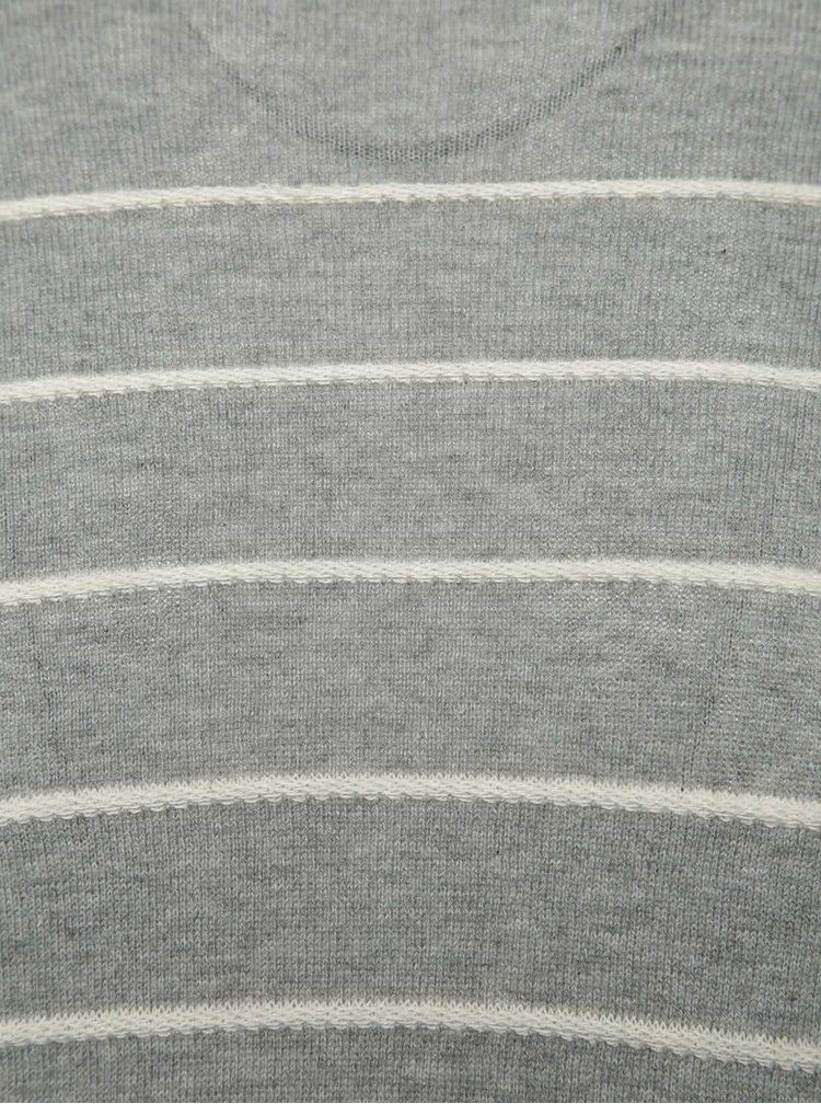 Šedý pruhovaný svetr ONLY & SONS Arlan