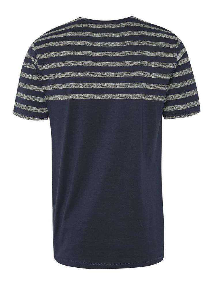 Tmavě modré triko s náprsní kapsou ONLY & SONS Peterson