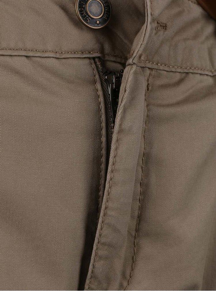 Béžové  chino kalhoty s páskem VERO MODA Boni