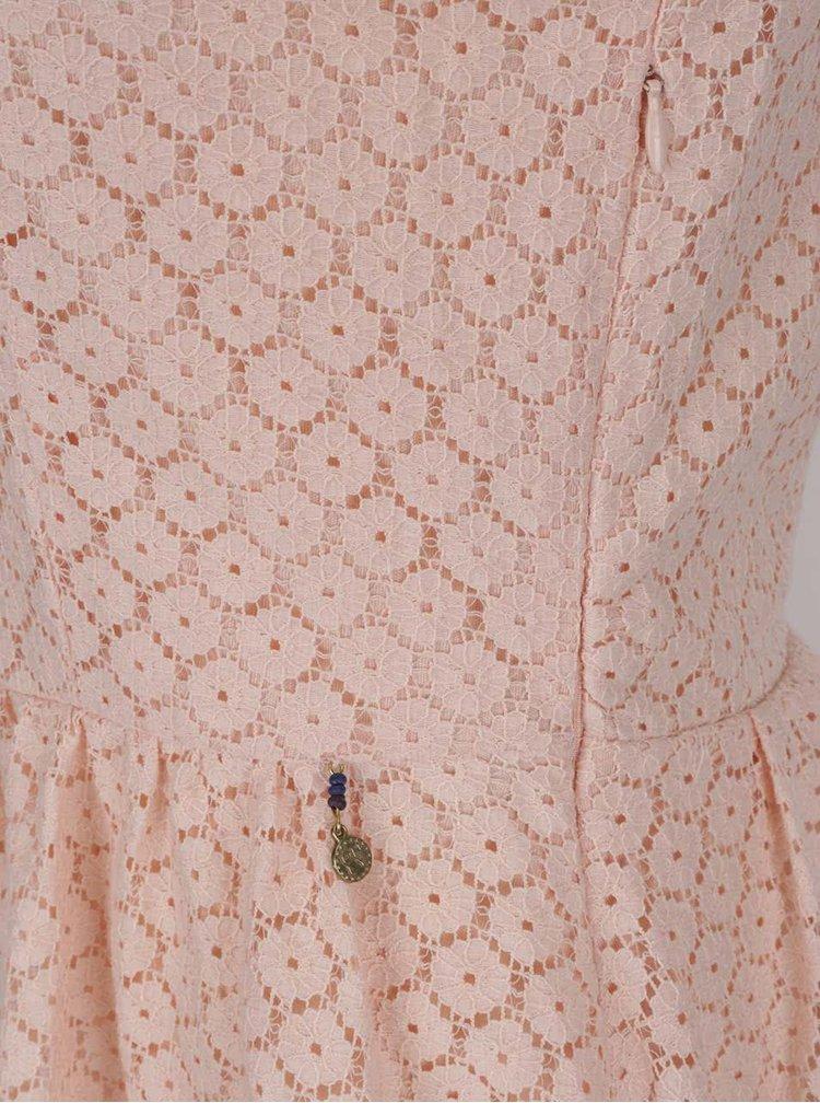 Rochie  ONLY Line Fairy roz deschis din dantela