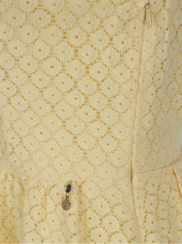Rochie galbenă ONLY Line Fairy cu aplicații din dantelă